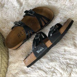 Birkis Birkenstock 2 Strap Black Sandals